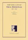 16. Tria personal (1961-1992)